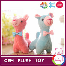 Cute plush toys stuffed farm animals 8 inch lamb with ribbon