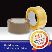 China Factory transparent tape plastic opp packing tape, clear carton sealing tape, 33 years manufacturer packing tape