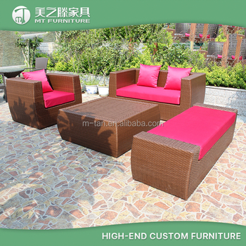 Modern Cheap Comfortable Wicker Rattan Outdoor Sofa Set
