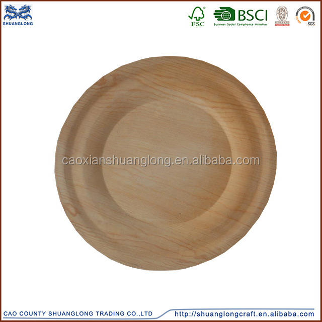 china supply pine wooden crafts plates for home decor