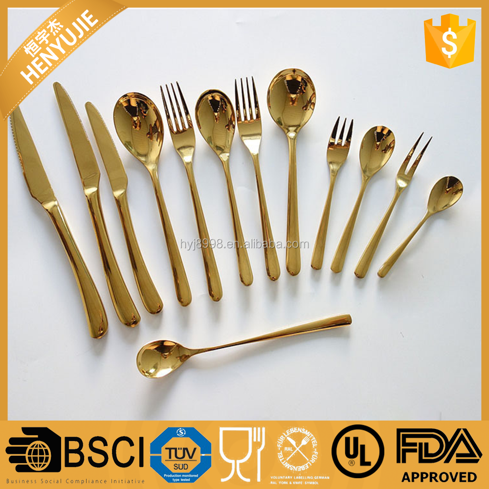 Creative Converting Premium Plastic Glitz Gold Glitter Cutlery, 24 Utensils Per Package