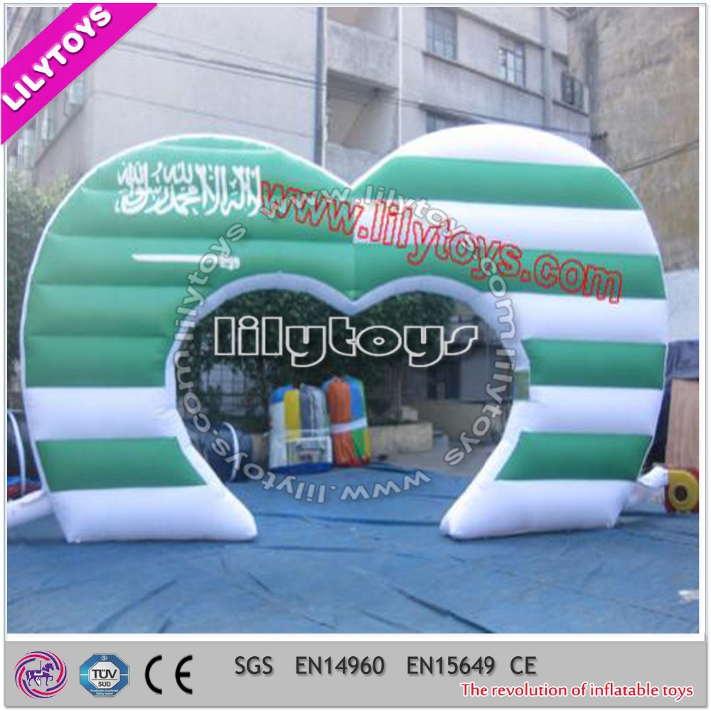 Lilytoys 2017 latest inflatable wedding arch, customized wedding catering rental product