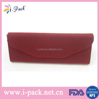 Hot sell triangle folding glasses case wholesale wine glasses carrying case for eyeglasses/ optical glasses