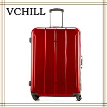 Ruby Red Royal Polo Luggage Trolley Case For Women