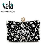Fashion Style Hard Case Evening Box Clutch Bag In Rhinestone For Ladies Party