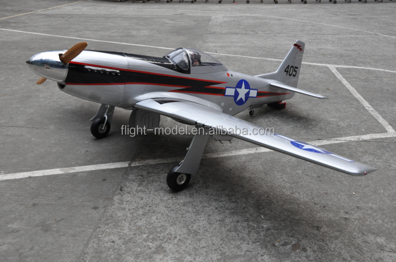 "Large Scare RC Model Plane P-51 Mustang 96"" 80-100CC Gas RC Airplane"