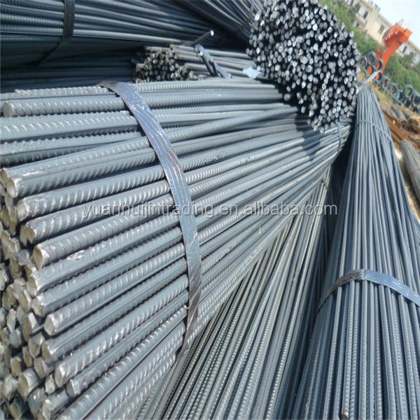 STEEL REBAR deformed steel bar, iron rods for construction /building material
