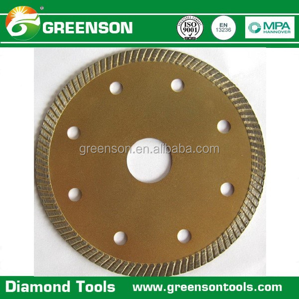 high sharpness fast cutting continuous rim turbo ceramic tile diamond saw blade