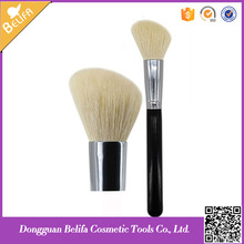 Belifa natual goat hair single loose soft big powder <strong>brush</strong> blush <strong>brush</strong> angled round head