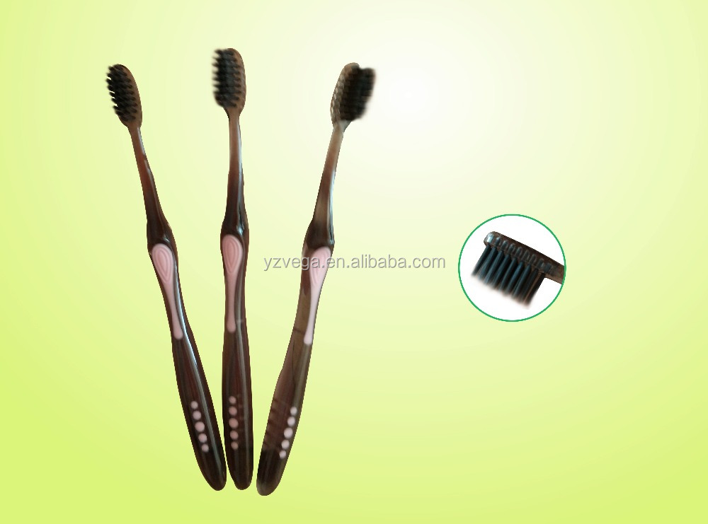 2015 black bristles toothbrush for adults