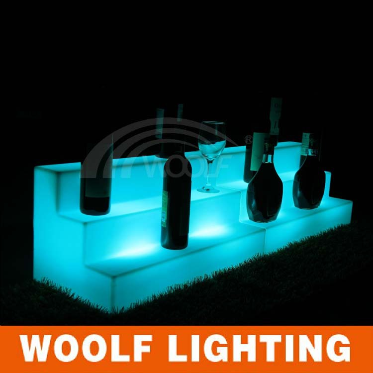 led lights beverage soft drink display racks plastic