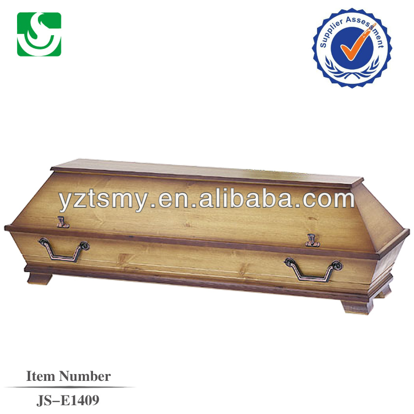 Qualified simple funeral solid wooden German coffin