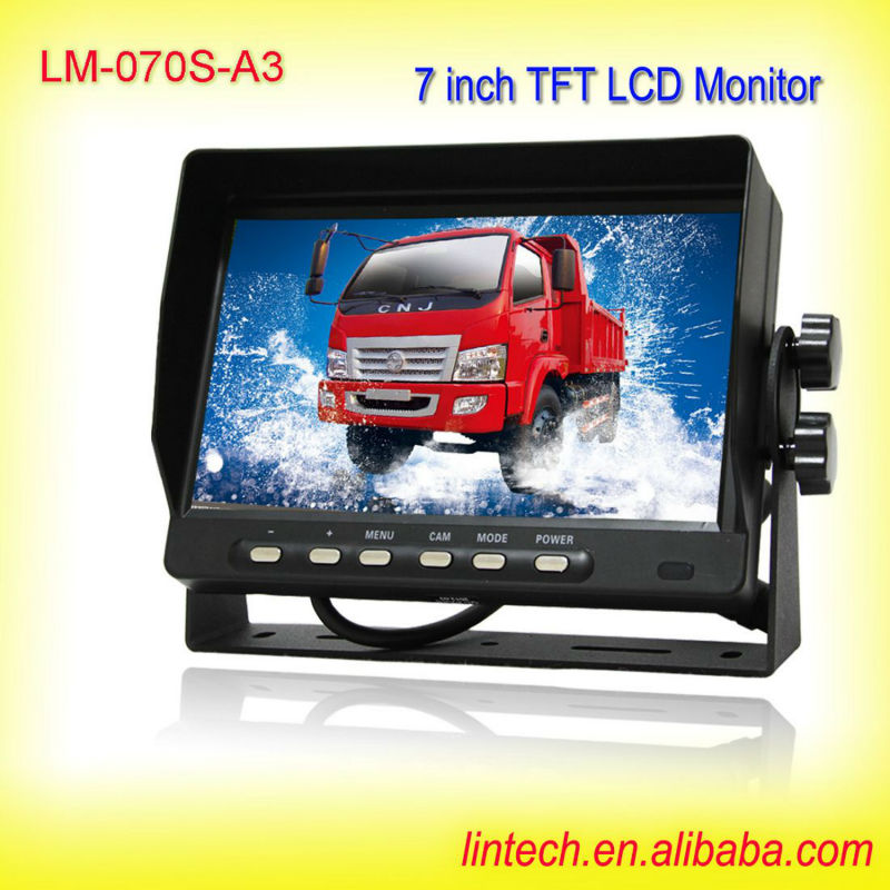 7 inch TFT LCD 24v bus coach lcd monitor (LM-070S-A3)