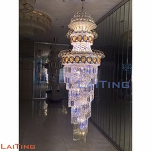 Contemporary Stair Spiral Crystal LED Chandelier Pendant Lamp 98115