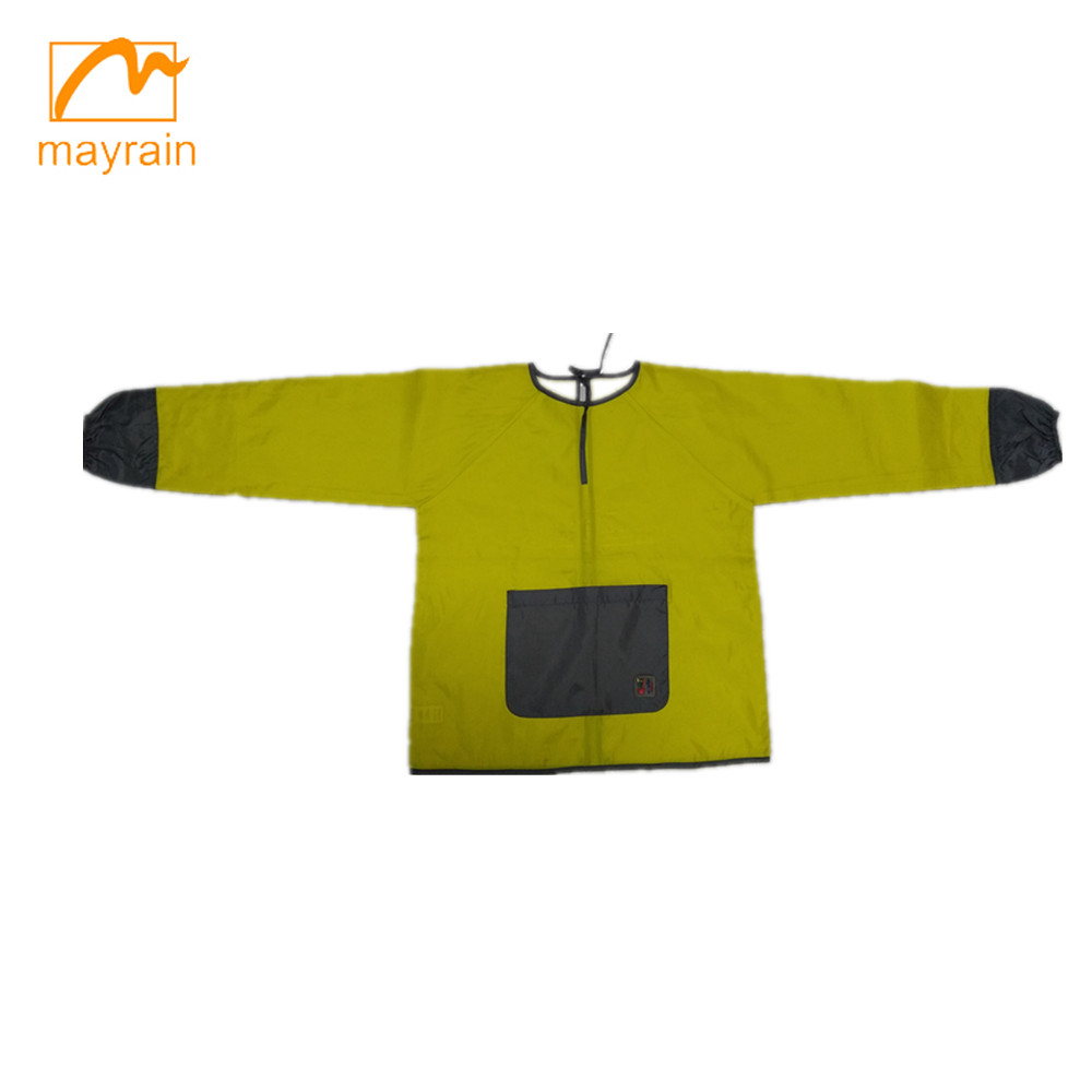 Children polyester drawing apron with long sleeve and pocket 2017