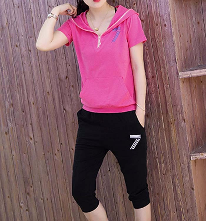 2016 new pure cotton short sleeve t-shirts 7 minutes of pants for woman faction clothing