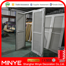New 50 series aluminum alloy fixed louver inward opening casement door