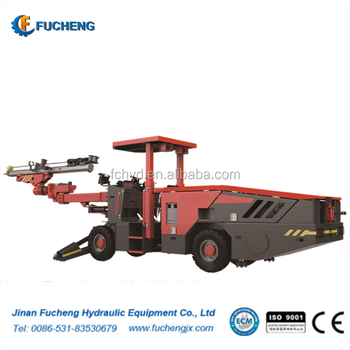 Single-arm Hydraulic Drilling Jumbo with wheels
