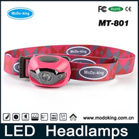 Headlamp LED with logo band as customer's requirement, Led Headlamp Flashlight with RoHS FCC CE Certificate