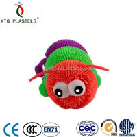 Factory soft plastic 3 joints big eyes caterpillar children toy,TPR kids toys