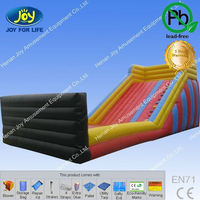 fire truck inflatable water slide/priced amusement park water slides/screen printing water slide decal paper