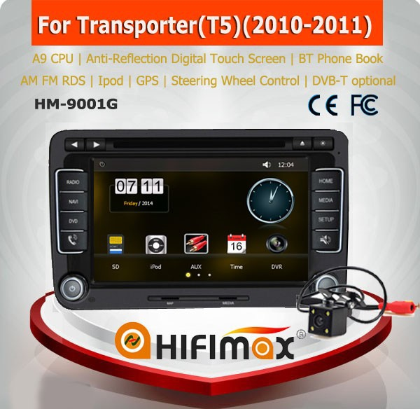 HIFIMAX Car Multimedia for vw TRANSPORTER T4 T5 CADDY AMAROK car dvd gps navigation system/vw transporter t5 car radio