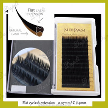 2017 the Best Price Ellipse Flat Lash Private Label China eyelash