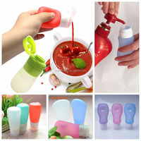 BPA Free Food Grade Silicone Peanut Butter Squeeze Bottle