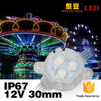 Outdoor IP67 led amusement lights 5050smd 30mm 12V DC RGB led pixels