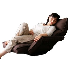 Japanese floor sofa chair with armrest roratable and adjustable floor single sofa chair living room furniture