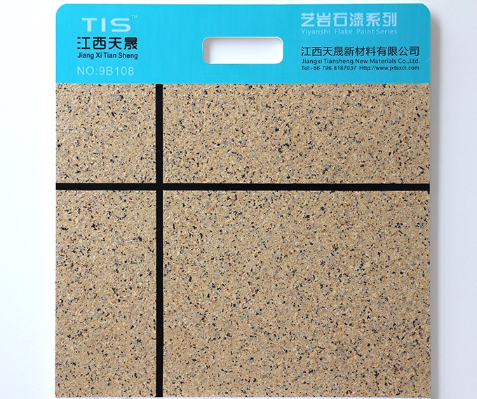 Acrylic Liquid Granite Flake Paint For Wall Decoration Spray Application