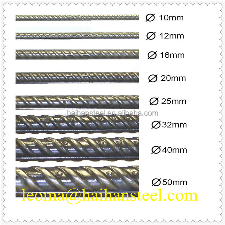 Deformed steel rebar price/iron rods for construction/concrete/building