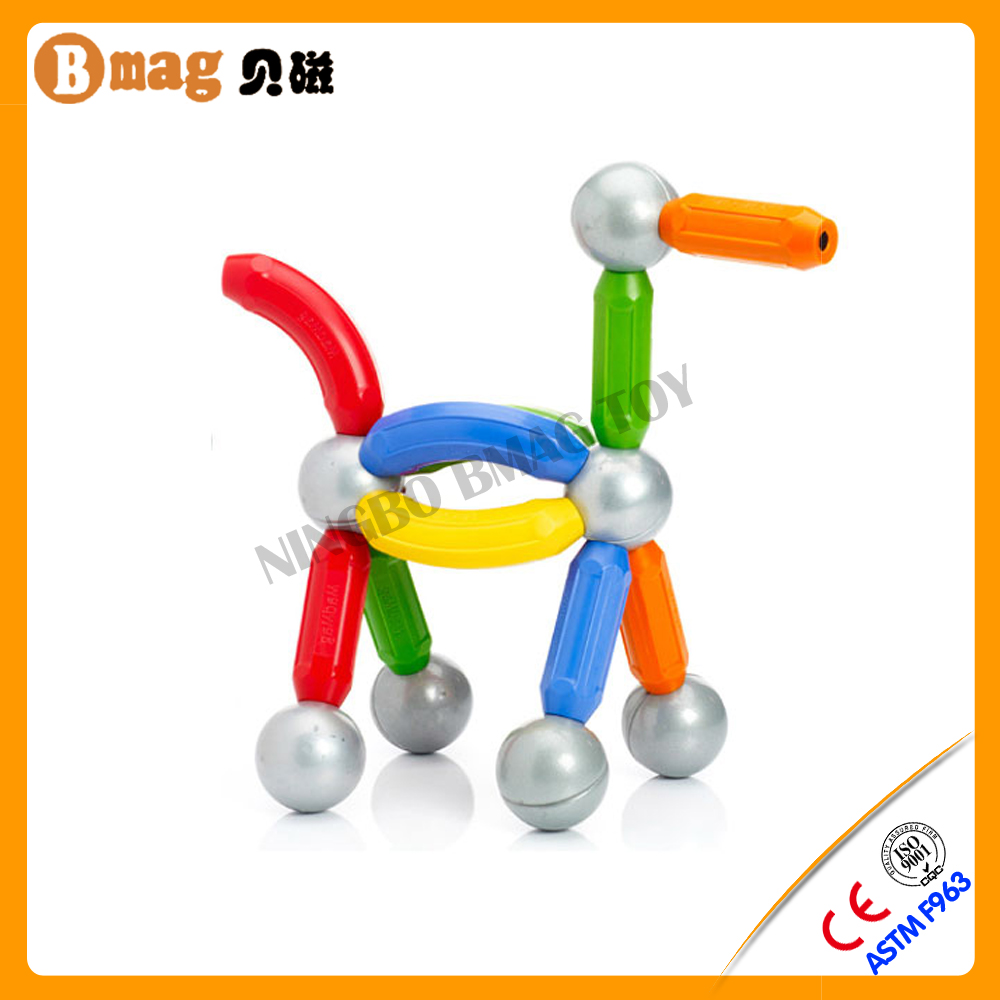 ISO certification diy educational magnetic balls sticks toy