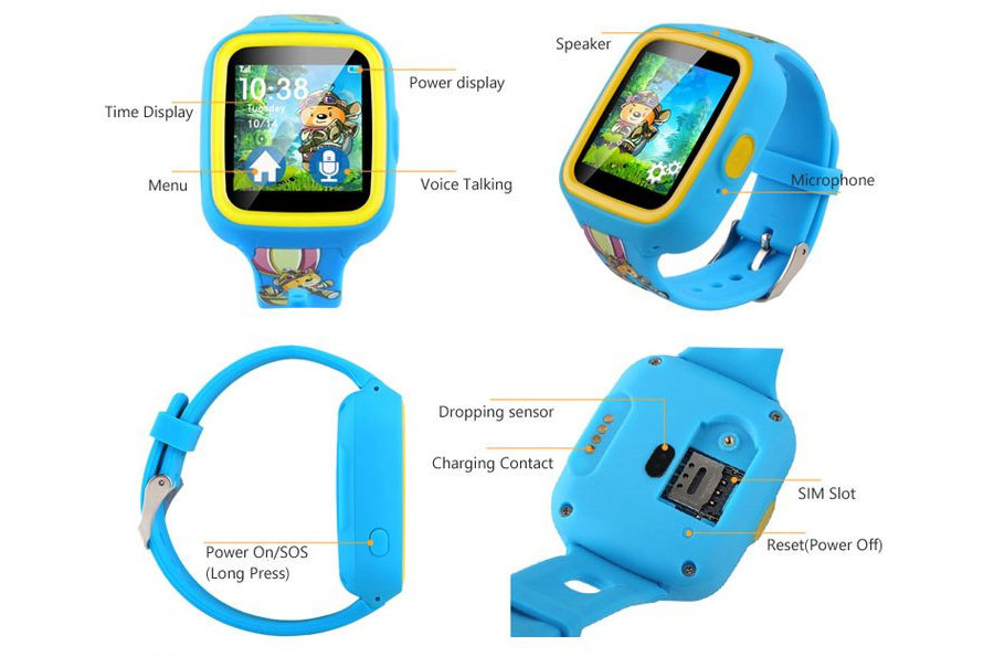 Top selling kids gsm gps tracker watch phone