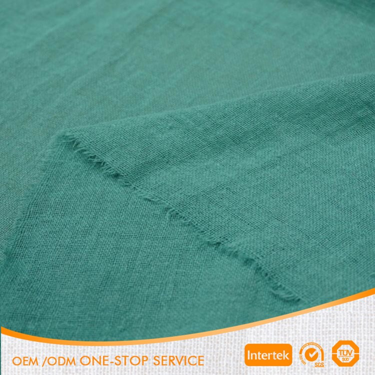 Washed crepe 100% ramie fabric in stock for garment