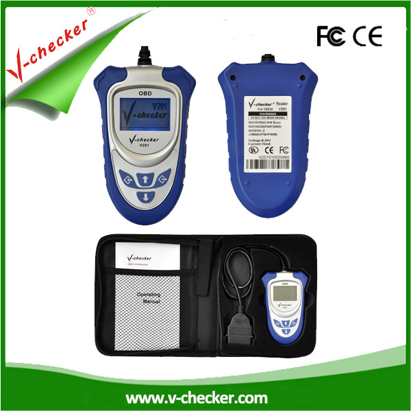Diagnose All 16pin Models Of OBD Cars V-CHECKER V201 CAN-BUS OBD SCANNER