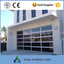 Automatic tempered glass or polycarbonate glass aluminum frame/ glass garage doors