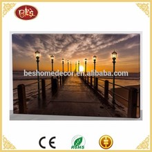 Seaside scenery light up led canvas painting,LED canvas wall art print,wholesale led canvas
