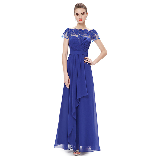 2017 New Fashion Long Chiffon Custom Made Pleats Plus Size Off Shoulder Empire Bridesmaid Dresses