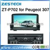 Zestech double din car dvd gps for peugeot 307 with digital touch screen