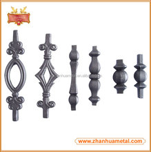 Decorative wrought iron fence spear points