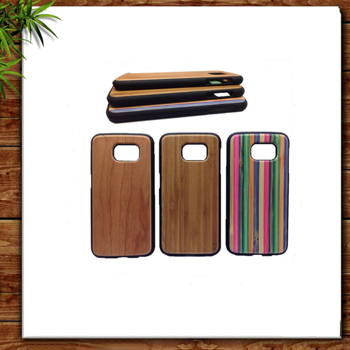 Wonderful Quality Top Selling Natural 100% Healthy Wood Bamboo Mobile Phone Accessories Case for Galaxy S7/S7 Edge