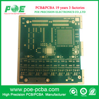 Green color multilayer fr4 pcb board immersion gold printed circuit board