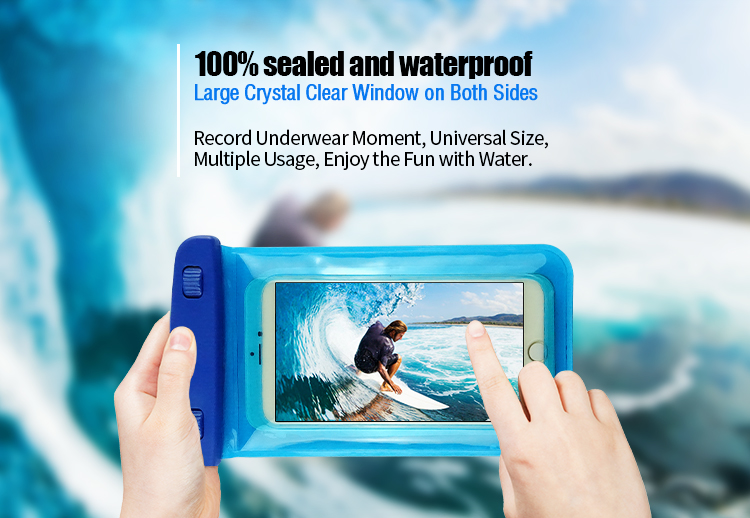 Super Sealability Technology universal bag mobile waterproof case Waterproof Phone Pouch