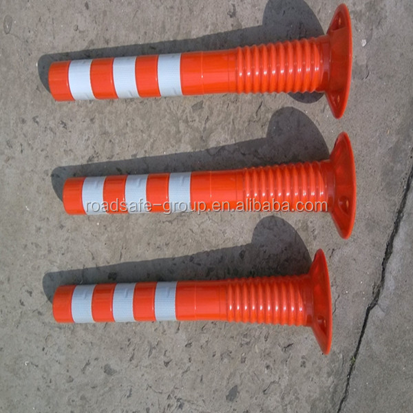 Reflective guide post PU spring post Plastic warning bollard