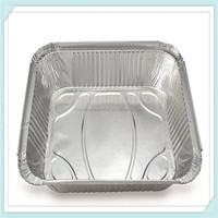 smoothwall disposable food grade aluminum foil container / tray /lunch box for food packaging