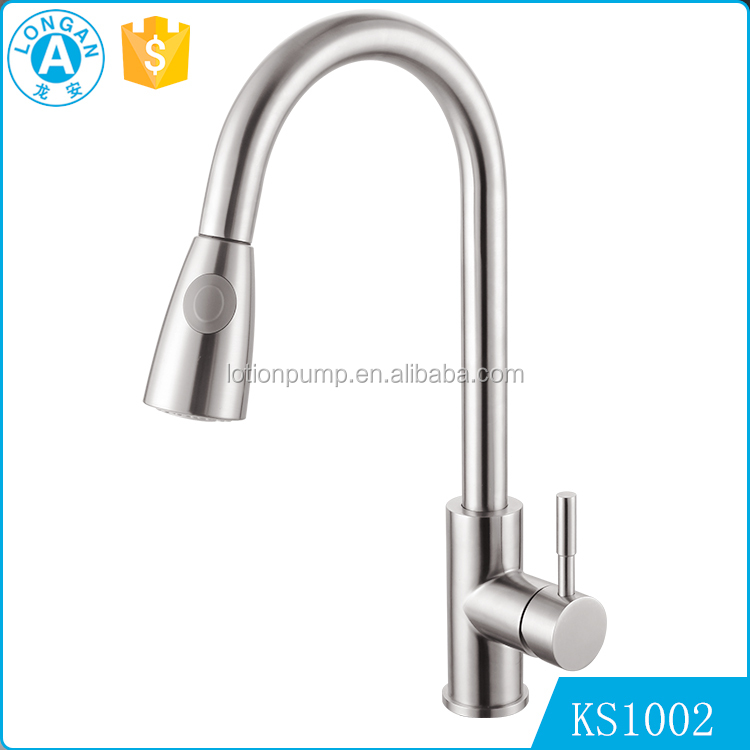 factory wholesale Single handle pull down stainless steel kitchen italian tuscany faucets
