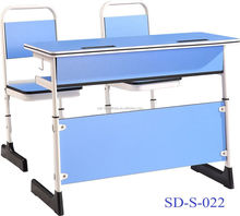 SD-S-022 Modern Design Classroom Furniture Double School Student Table And Chairs Set