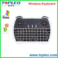 Mini V6A 2.4g Wireless Mini Backlit Keyboard With Touchpad For Smart Tv Box Fly Airmouse Keyboard