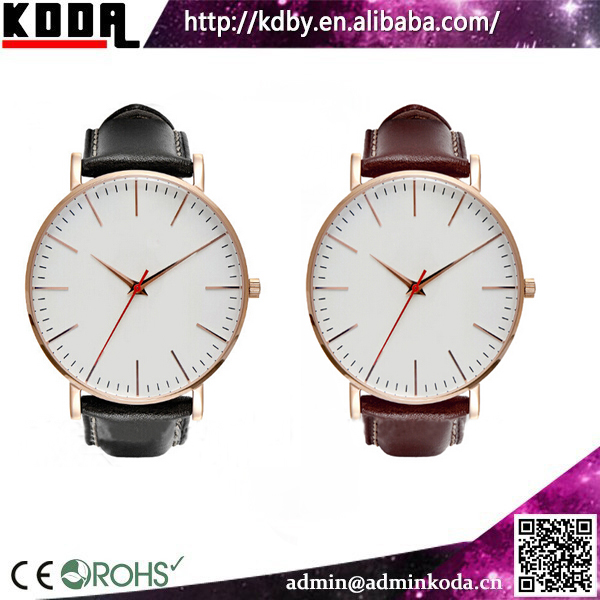 Water Resistant Quartz Watches 3 Bar Real Leather Fitron Watch Product On
